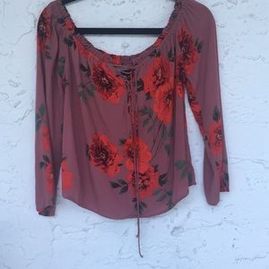 Kendall & Kylie Boho style off shoulders top
